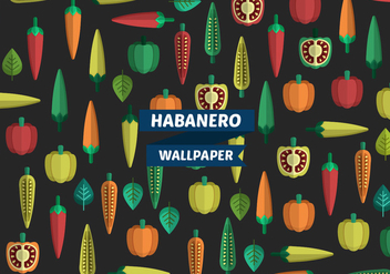 Habanero Pattern Vector Wallpaper - Free vector #440203