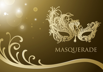 Masquerade Ball Mask Free Vector - бесплатный vector #440223