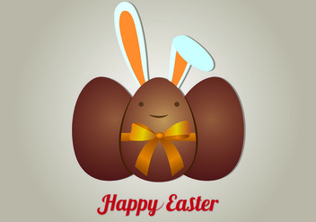 Background Of Chocolate Easter Eggs - бесплатный vector #440243