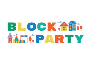 Block party illustration - vector gratuit #440253