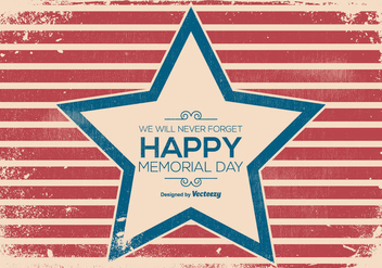 Old Grunge Memorial Day Illustration - Free vector #440313