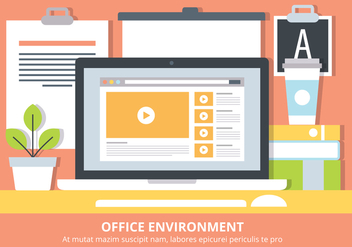 Free Flat Workstation Vector Elements - Free vector #440363