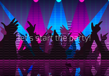 Party Night Background Free Vector - Kostenloses vector #440403