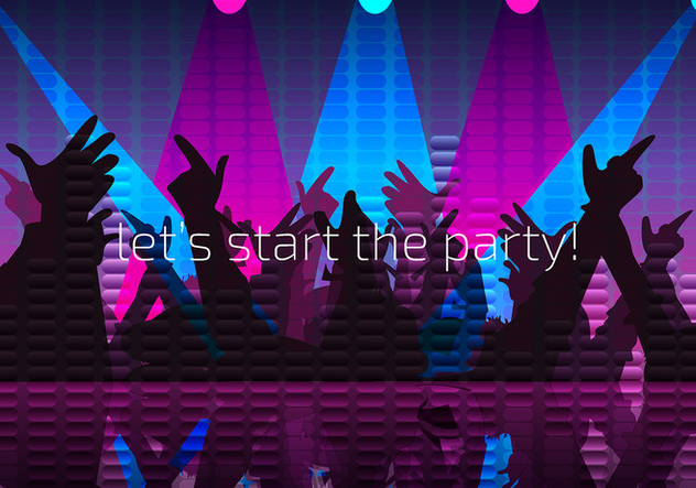 Party Night Background Free Vector - Free vector #440403