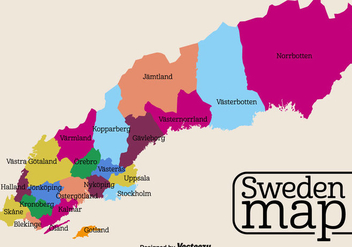 Vector High Detailed Sweden Map - vector #440413 gratis