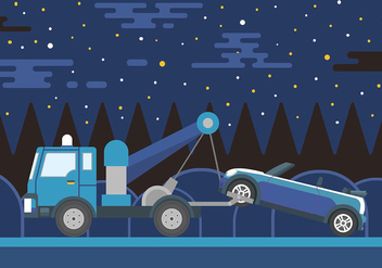 Towing Vector Background - vector gratuit #440423