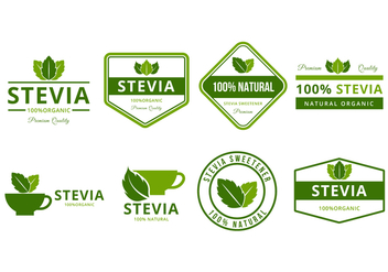 Free Stevia Logo and Badges Vector - Free vector #440433