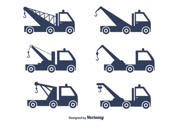 Towing Truck Vector Set - бесплатный vector #440443