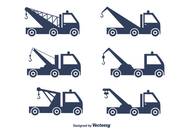 Towing Truck Vector Set - vector #440443 gratis