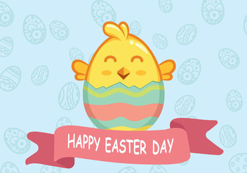 Easter Chick Background Vector - Kostenloses vector #440493