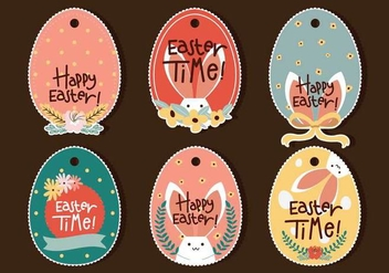 Easter Egg Tag - Free vector #440563