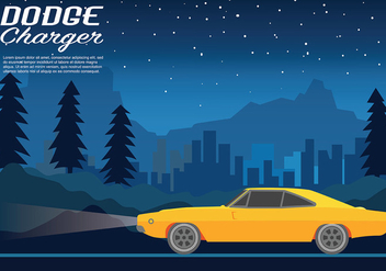 Dodge Charger Vector Background - Kostenloses vector #440633