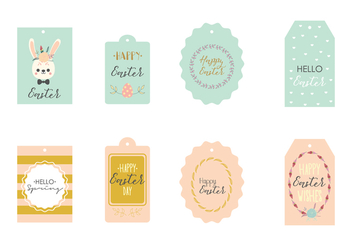 Spring Easter Gift Tag - Free vector #440643