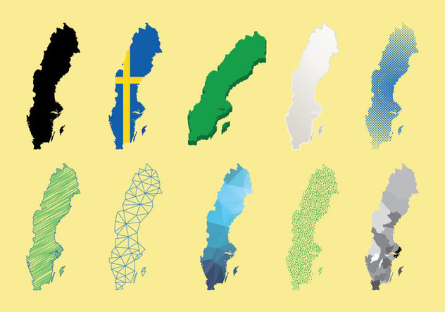 Sweden Map Vector - Free vector #440733