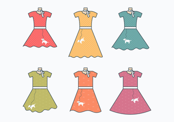 Poodle Skirt Collection - vector gratuit #440773