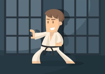 Dojo Illustration - vector gratuit #440783