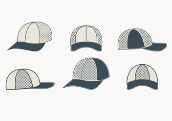 Gray Trucker Hat Collection - бесплатный vector #440793