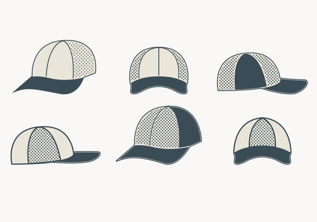 Gray Trucker Hat Collection - vector gratuit #440793
