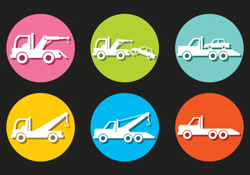 Towing Vector Icons - vector #440813 gratis