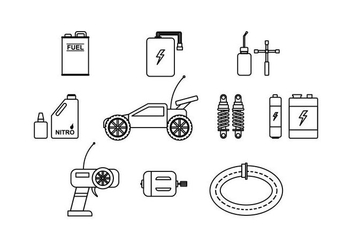 RC Car Icon Vector - Free vector #440843