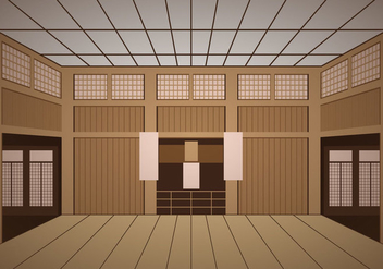 Indoor Dojo Temple - vector gratuit #440903