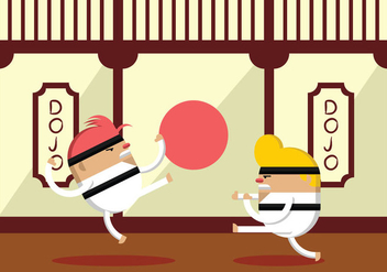 Karate Fighter Practice - Free vector #441033