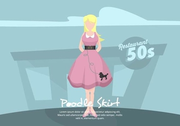 Poodle Skirt Illustration - Free vector #441043
