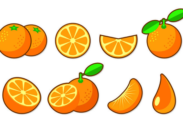 Set Of Clementine Fruit Icons - vector #441053 gratis