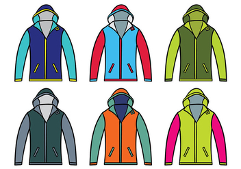 Windbreaker Jacket Vector - Free vector #441073