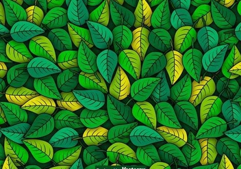 Vector Green Leaves Seamless Pattern - Kostenloses vector #441083