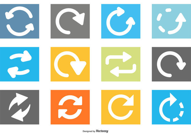 Update Icon Collection - Free vector #441153