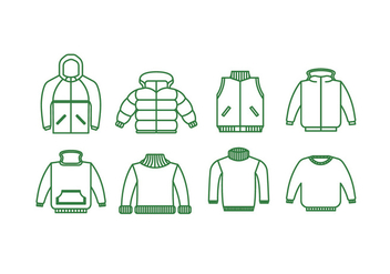 Jackets vector icon - бесплатный vector #441193
