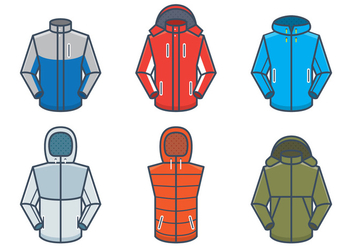 Outdoor Jackets Vector Mockups - бесплатный vector #441203