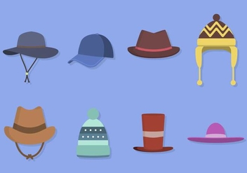 Flat Hat Collections - Free vector #441213