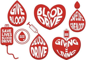 Blood drive vector set - vector gratuit #441243
