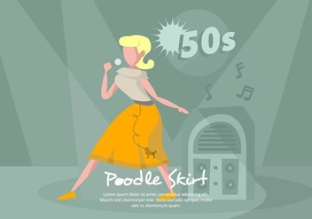 Poodle Skirt Illustration - Free vector #441263