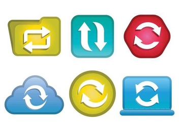 Update icon vector set - бесплатный vector #441303