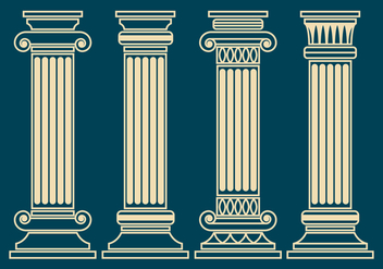 Corinthian Pillar Vector Set - бесплатный vector #441323