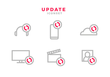 Update Icon Red Free Vector - vector gratuit #441343