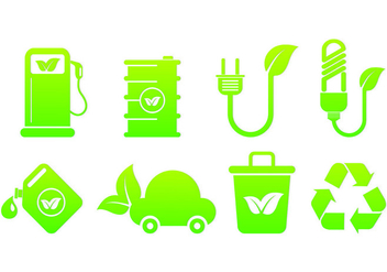 Set Of Biodegradable Icons - vector gratuit #441363