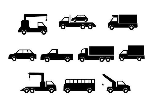 Free Cars Silhouette Collection Vector - Kostenloses vector #441393