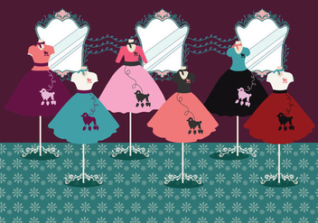 Poodle Skirt Vector - Free vector #441403
