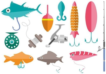Free Fishing Tools Vector - Kostenloses vector #441433