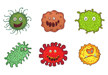 Mold Monster Character Vectors - vector gratuit #441463