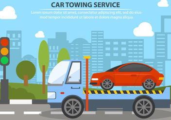 Car Towing Service - vector #441523 gratis
