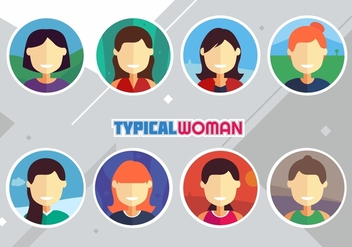 Typical Woman - vector gratuit #441533