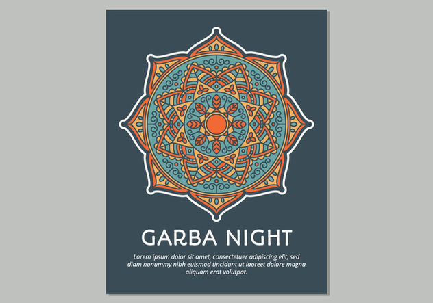 Garba Poster Template - Free vector #441593