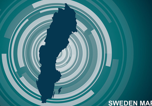 Sweden Map Background Vector - Free vector #441723