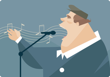 Big Man Singing Vector - Free vector #441793
