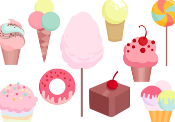 Free Candy Sweets Vectors - бесплатный vector #441823